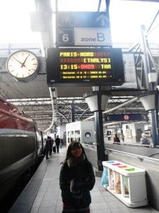 Thalys-ku berangkat jam 13.15 menuju Paris!!