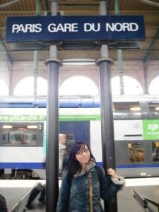Akhirnya sampaaaaaii di Paris Gare Du Nord :D senangnyaaaaaaaaa uuuuhhhhhh sungguuuhh