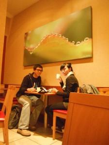 Foto berdua dulu sebelum selesai makan :D