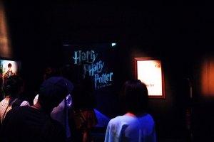 dibalik hitam-hitam ini lah si Harry dan kawan-kawan berada. dan ini adalah foto terakhir saya di Exhibition karena didalem kita dialarang menggunakan kamera.