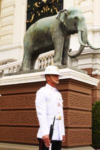 si penjaga putih dan gajahnya :P