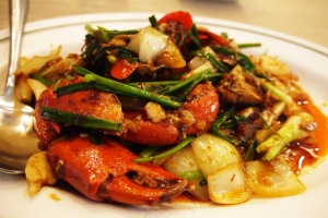 Fried crab with chilli paste