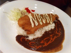 Big fried Fish Curry (S$13),, ikannya lembuuuttt deh