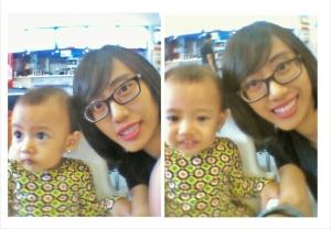 lumayan dapet foto bareng anak bayik senyum